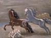 'Cavalli in riva al mare'