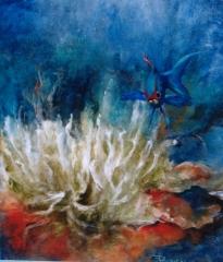 'Fondo marino', olio su tela