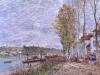 Alfred Sisley, 'Giornata nuvolosa a Saint-Mammès', 1880