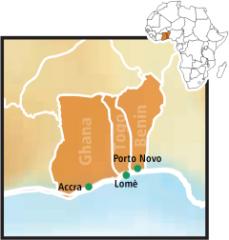 'Ghana, Togo, Benin'