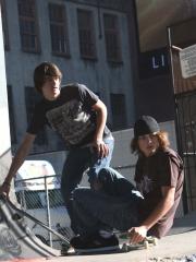 Jake Miller e Gabe Nevins sul set di 'Paranoid Park', 2007