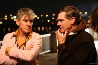 Christopher Doyle e Gus Van Sant sul set di 'Paranoid Park', 2007