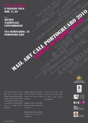 'Mail art Portogruaro 2010', locandina